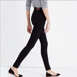 "Madewell 9"" High-Rise Skinny Black Jeans"